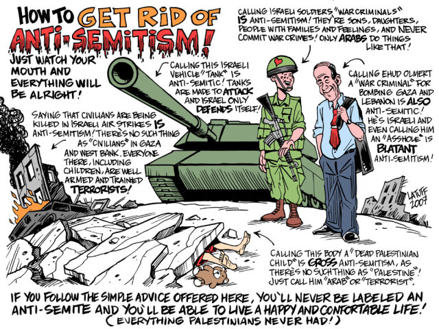 How to get rid of Anti-Semitism (by Latuff)